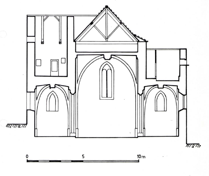 Plan en coupe de l'Eglise