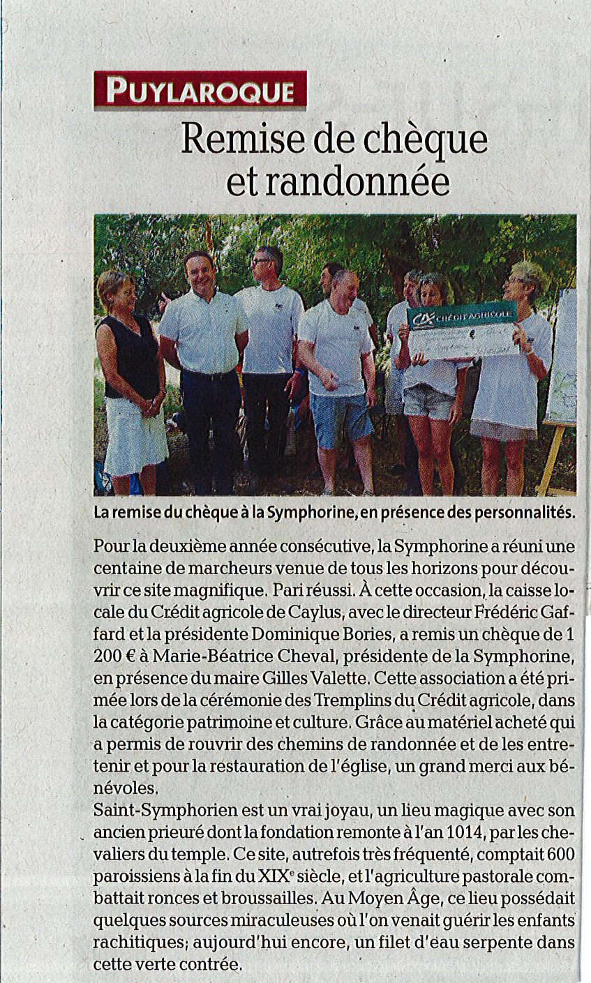Article la depeche rando 03072017