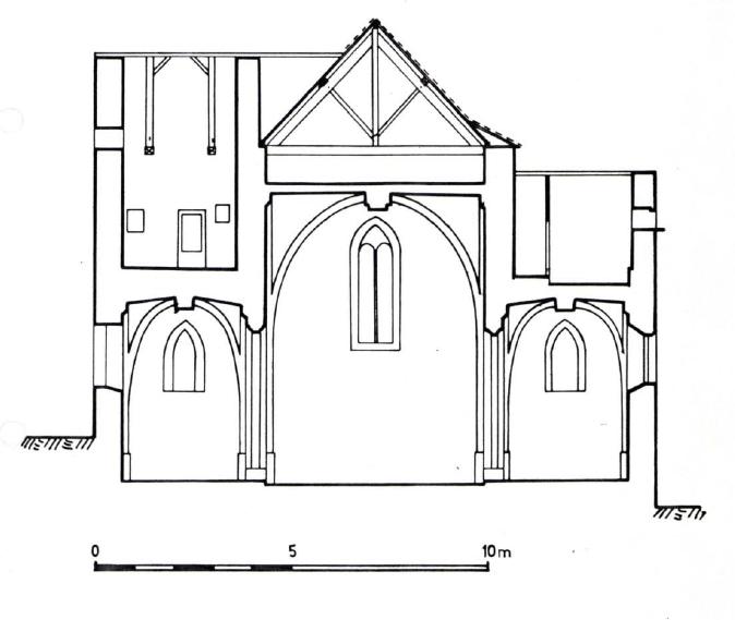 Plan en coupe de l'Eglise